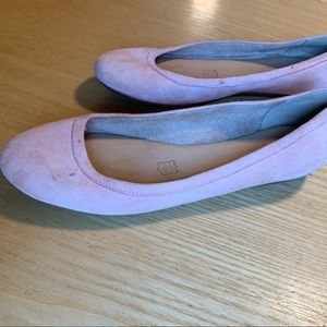Dusty Pink Leather Naturalizer Brittany Flats